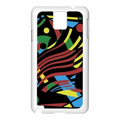 Colorful decorative abstrat design Samsung Galaxy Note 3 N9005 Case (White)