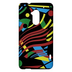 Colorful decorative abstrat design HTC One Max (T6) Hardshell Case