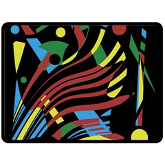 Colorful decorative abstrat design Double Sided Fleece Blanket (Large)