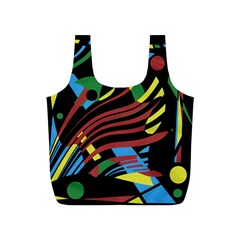 Colorful decorative abstrat design Full Print Recycle Bags (S)