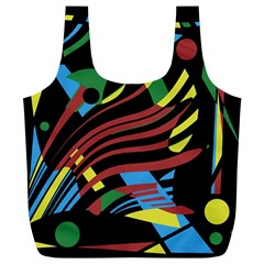 Colorful decorative abstrat design Full Print Recycle Bags (L)