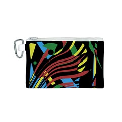 Colorful decorative abstrat design Canvas Cosmetic Bag (S)
