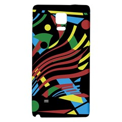Colorful decorative abstrat design Galaxy Note 4 Back Case