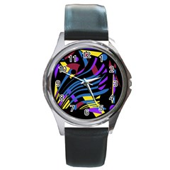 Decorative abstract design Round Metal Watch
