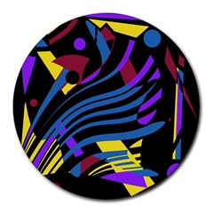 Decorative abstract design Round Mousepads