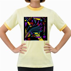 Decorative abstract design Women s Fitted Ringer T-Shirts