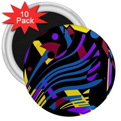 Decorative abstract design 3  Magnets (10 pack)