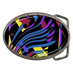Decorative abstract design Belt Buckles