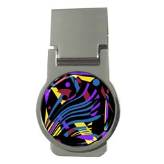 Decorative abstract design Money Clips (Round)