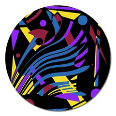 Decorative abstract design Magnet 5  (Round)