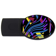 Decorative abstract design USB Flash Drive Oval (2 GB)