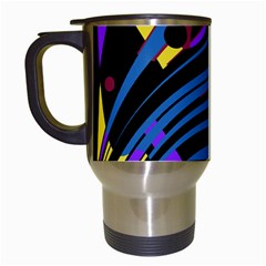 Decorative abstract design Travel Mugs (White)