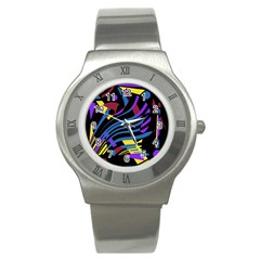 Decorative abstract design Stainless Steel Watch