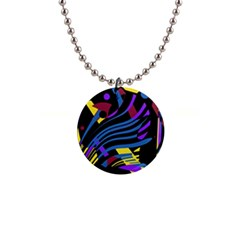 Decorative abstract design Button Necklaces