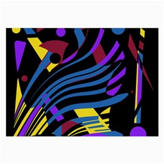 Decorative abstract design Large Glasses Cloth