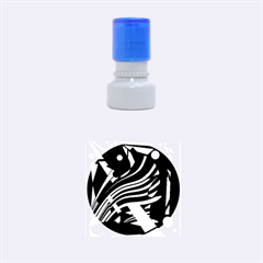 Decorative abstract design Rubber Round Stamps (Small)