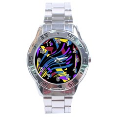 Decorative abstract design Stainless Steel Analogue Watch