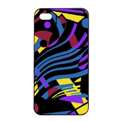 Decorative abstract design Apple iPhone 4/4s Seamless Case (Black)