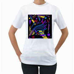 Decorative abstract design Women s T-Shirt (White)