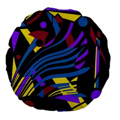 Decorative abstract design Large 18  Premium Flano Round Cushions