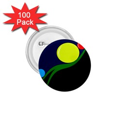 Falling boalls 1.75  Buttons (100 pack)