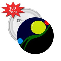 Falling boalls 2.25  Buttons (100 pack)