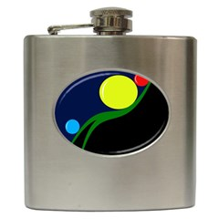 Falling boalls Hip Flask (6 oz)