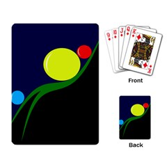 Falling boalls Playing Card
