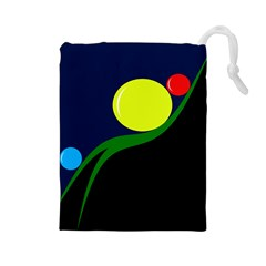 Falling boalls Drawstring Pouches (Large)