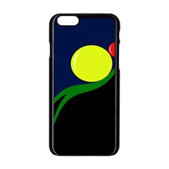 Falling boalls Apple iPhone 6/6S Black Enamel Case