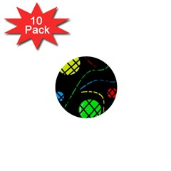 Colorful design 1  Mini Buttons (10 pack)