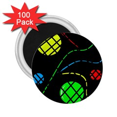 Colorful design 2.25  Magnets (100 pack)