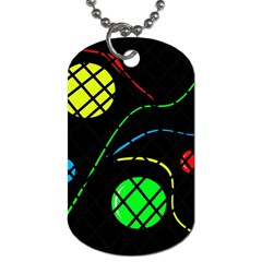 Colorful design Dog Tag (One Side)