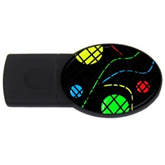 Colorful design USB Flash Drive Oval (1 GB)