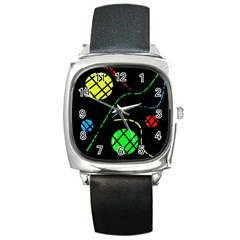 Colorful design Square Metal Watch