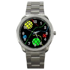 Colorful design Sport Metal Watch