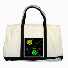 Colorful design Two Tone Tote Bag