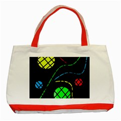 Colorful design Classic Tote Bag (Red)