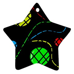 Colorful design Star Ornament (Two Sides)