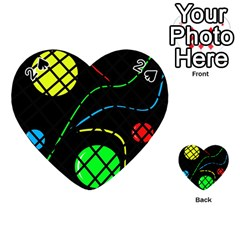 Colorful design Playing Cards 54 (Heart)