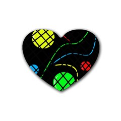 Colorful design Heart Coaster (4 pack)