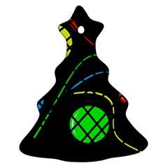 Colorful design Christmas Tree Ornament (2 Sides)