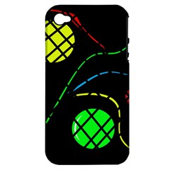 Colorful design Apple iPhone 4/4S Hardshell Case (PC+Silicone)