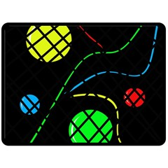 Colorful design Double Sided Fleece Blanket (Large)