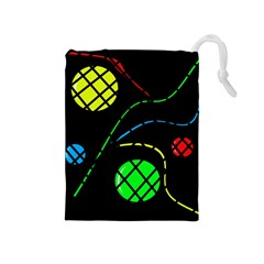 Colorful design Drawstring Pouches (Medium)
