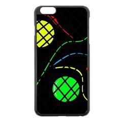 Colorful Design Apple Iphone 6 Plus/6s Plus Black Enamel Case