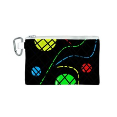 Colorful design Canvas Cosmetic Bag (S)