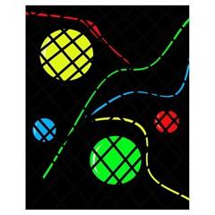Colorful design Drawstring Bag (Small)