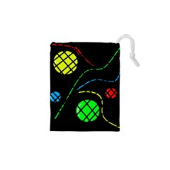 Colorful design Drawstring Pouches (XS)