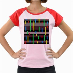 Colorful pattern Women s Cap Sleeve T-Shirt